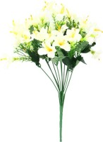 Indian Decor Company Yellow Lily Artificial Flower(9.05 inch, Pack of 1)