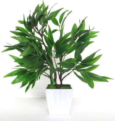 Aaryash Green Assorted Artificial Flower with Pot(25 inch, Pack of 1)