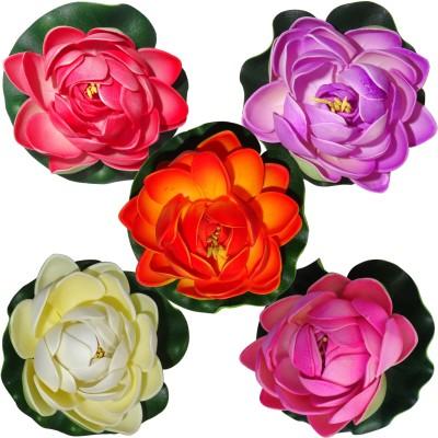Muhil Floating Lotus Medium Multicolor Assorted Artificial Flower