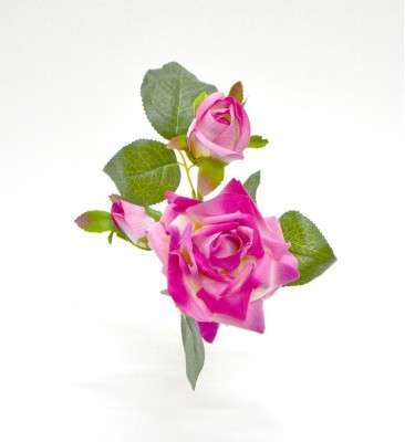 Flowers Forever Classy Pink Rose Artificial Flower(7 inch, Pack of 1)