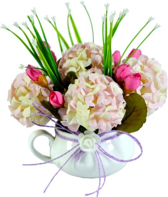 Sadhna creations Multicolor Assorted Artificial Flower  with Pot