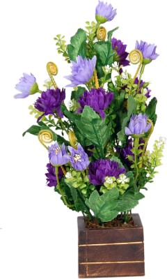 Loxia SMFA-2003B Multicolor Assorted Artificial Flower  with Pot