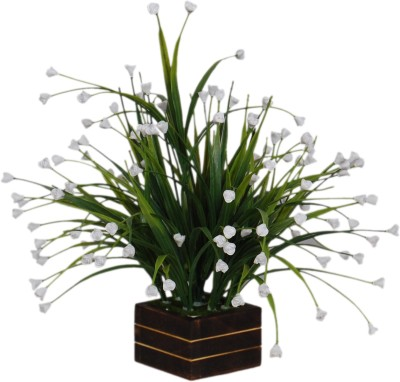 Loxia 4012C White Wild Flower Artificial Flower  with Pot