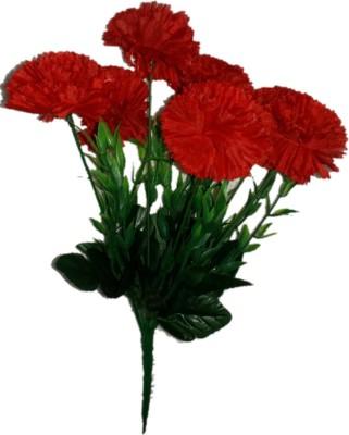 sn flower carnation flower bunch red Red Carnations Artificial Flower