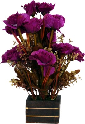Loxia 4015C Purple Carnations Artificial Flower  with Pot