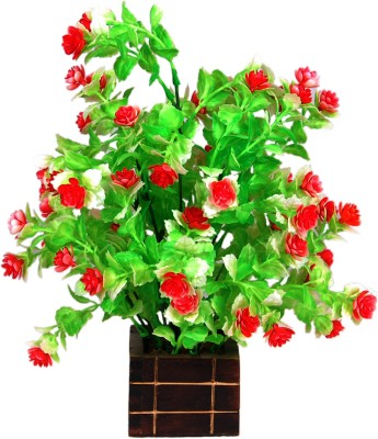 Loxia SMFA-3007A Red Wild Flower Artificial Flower  with Pot
