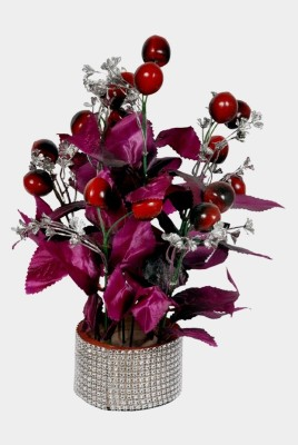 Yash Enterprises Cherry Filler(32 cm) Multicolor Assorted Artificial Flower  with Pot
