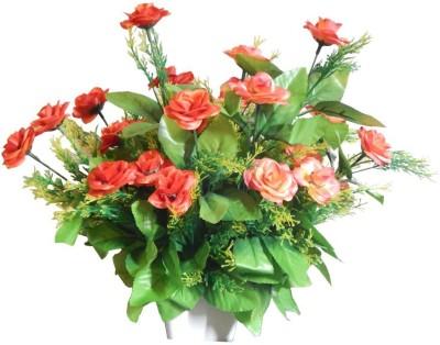 RZ Best Flower Artificial Red, Green Rose Artificial Flower