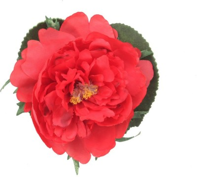 Premsons Red Peony Artificial Flower(4 inch, Pack of 3)