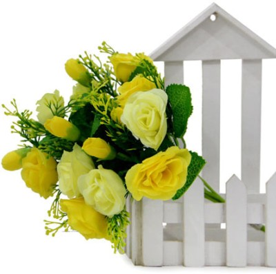 Gifts By Meeta Yellow, Green Assorted Artificial Flower