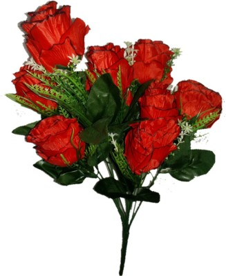 sn flower Rose artificial flower bunch red Red Rose Artificial Flower