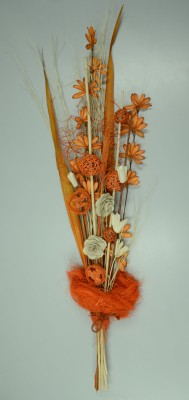 Exotic Creations Tangerine Glory Dried Bouquet Multicolor Assorted Artificial Flower
