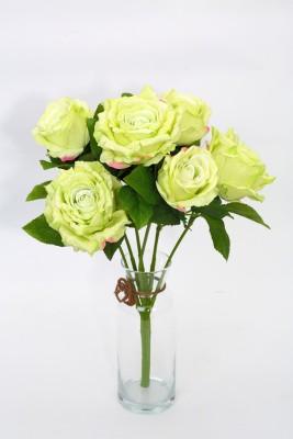Deziworkz Green Rose Artificial Flower