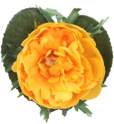 Premsons Yellow Peony Artificial Flower(4 inch, Pack of 3)