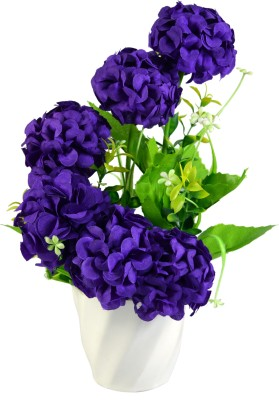 Sadhna Creations Purple Assorted Artificial Flower  with Pot
