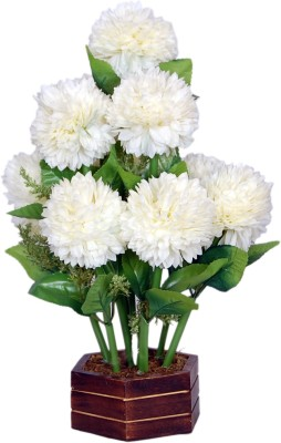 Loxia SMFA-2001B White Assorted Artificial Flower  with Pot