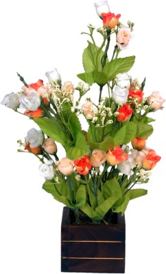 Loxia SMFA-3005A Orange Wild Flower Artificial Flower  with Pot
