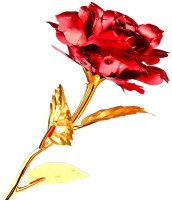 Stealodeal Red Valentine gift Gold Rose With Gift Box Red, Gold Rose Artificial Flower(9.8 inch, Pack of 1) best price on Flipkart @ Rs. 699
