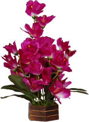 Loxia 4011C Purple Wild Flower Artificial Flower  with Pot