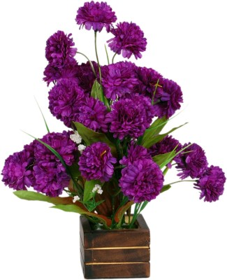 Loxia 4014B Purple Carnations Artificial Flower  with Pot