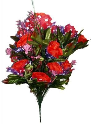 sn flower Artificial flower bunch red Red Rose Artificial Flower