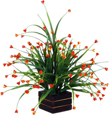 Loxia 4012A Orange Wild Flower Artificial Flower  with Pot