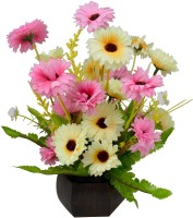 The Fancy Mart FP-0089-322 Multicolor Wild Flower Artificial Flower  with Pot(5 inch, Pack of 1) best price on Flipkart @ Rs. 507
