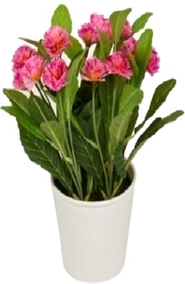 Flowers Forever Mini Lilac Pink Assorted Artificial Flower  with Pot(Pack of 1)