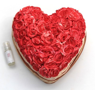 DECO aro Red Rose Artificial Flower