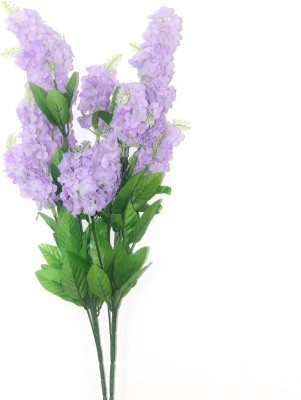Bengal Blooms Anti Flower Purple Assorted Artificial Flower(25 inch, Pack of 2)