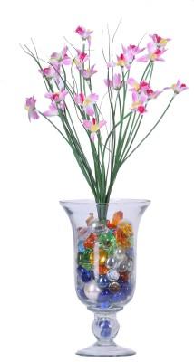 Evergreen Pink Orchids Artificial Flower