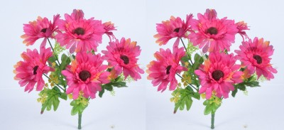 Kusal Pink Assorted Artificial Flower (5 inch, Pack of 2)