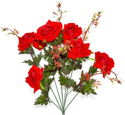 Flowers Forever Classic Red Rose Artificial Flower(24 inch, Pack of 1)