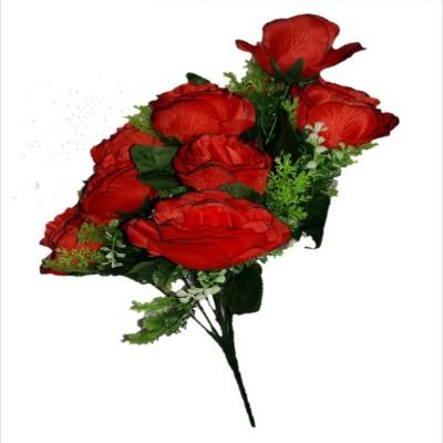sn flower Artrificial flower bunch red Red Rose Artificial Flower