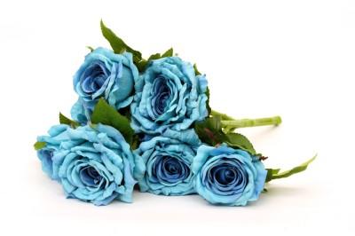 Deziworkz Blue Rose Artificial Flower
