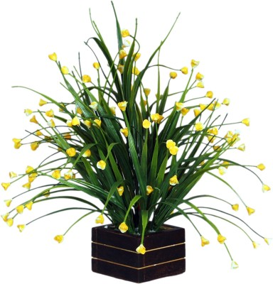 Loxia 4012B Yellow Wild Flower Artificial Flower  with Pot
