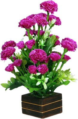 Loxia 4016B Purple Carnations Artificial Flower  with Pot