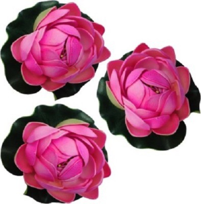 Sadhna Collections Floating Lotus Medium Pink Assorted Artificial Flower