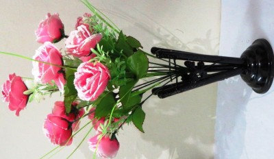 OTC Pink Rose Artificial Flower  with Pot