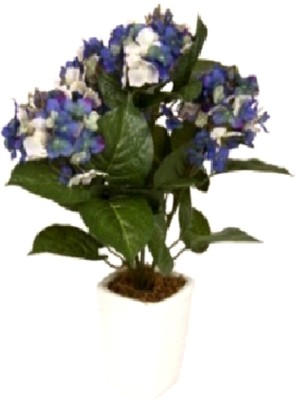 Flowers Forever Hydrangea Purple Assorted Artificial Flower  with Pot(Pack of 1)