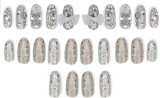 Shrih Artificial Decorative Nails Multic...