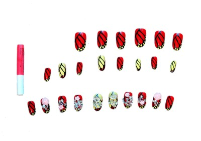 ANAHI Artificial Red Nails red