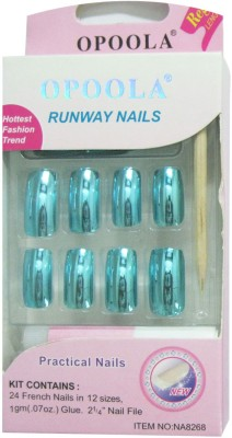 Opoola French Metal Nails Of 12 Sizes Blue