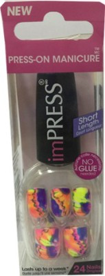 Impress Press - on manicure Yellow, Orange