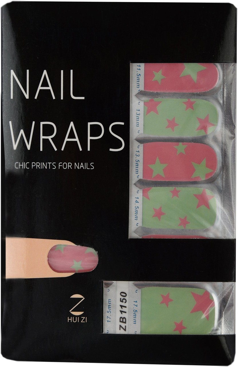 Ruby Premium Quality Full Cover Nail Art Stickers Pink(Pack of 14)