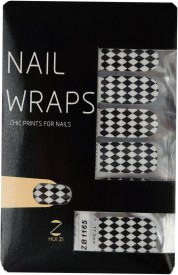 Ruby Premium Quality Full Cover Nail Art Stickers Black