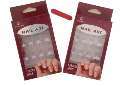 Home Genie Natural Artificial French Nails of 12 Sizes White