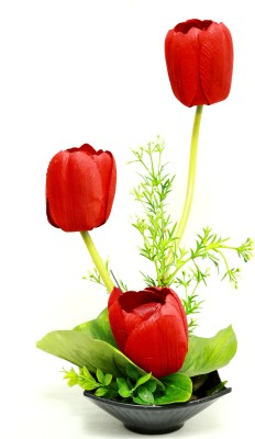 Bengal Blooms Tulip Artificial Plant with Pot