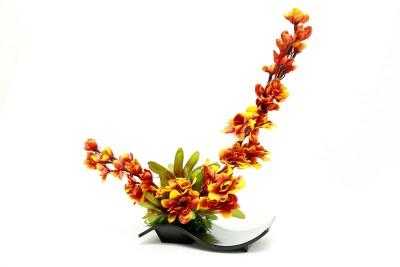 Bengal Blooms Maple Artificial Plant with Pot(25 cm, Multicolor)