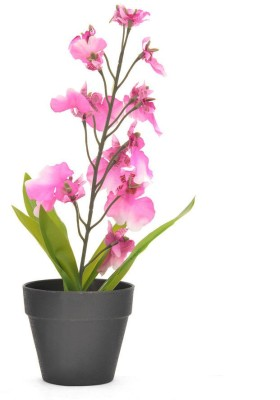 @home Orchid Artificial Plant  with Pot